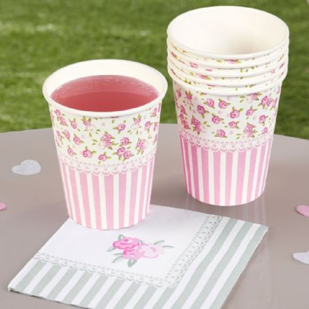 Frills & Spills Paper Party Cups - pack of 8